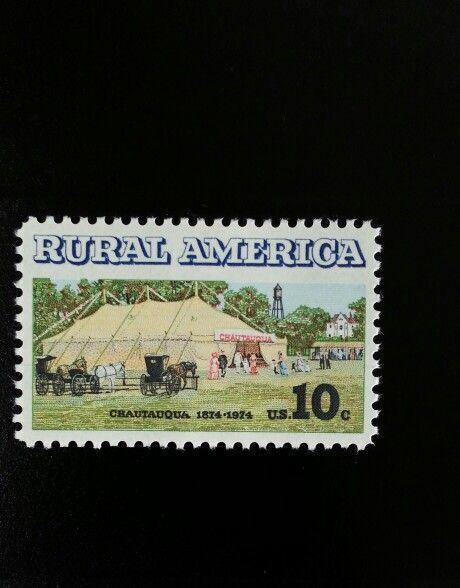 1974 10c Chautaugua Tent, Rural America, 100th Scott 15