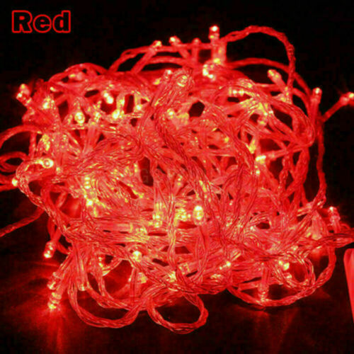 32FT LED Fairy String Light Christmas Tree 100 LED Outdoor Home Party Decor Lamp