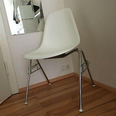 Vitra Eames Plastic Side Chair DSS Stuhl Sitzschale weiß white Chrom Gestell   eBay