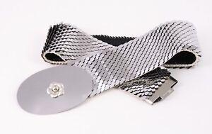 Freundlich Dg16 Schuppengürtel Taillengürtel Metall Silber Elastisch 70-85 Cm Vintage Halten Sie Die Ganze Zeit Fit Vintage-mode