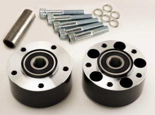 "Black Dual Flange Narrow Glide Wheel Hub For Ultima 21/"" CNC Aluminum Wheels"