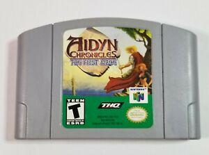 Aidyn Chronicles: The First Mage - Nintendo 64 - N64 - Authentic - Gray Variant