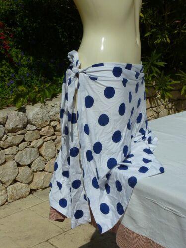 jupette de plage ANDRES SARDA EUM//FRM//UKM neuf blanc pois bleu