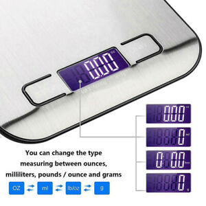 Electronic Digital Kitchen Scales 5kg LCD Display Balance Scale Food Weight