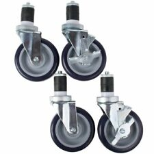 Regency 5 Casters For Work Table And Equipment Stand Swivel Stem Casters 4set