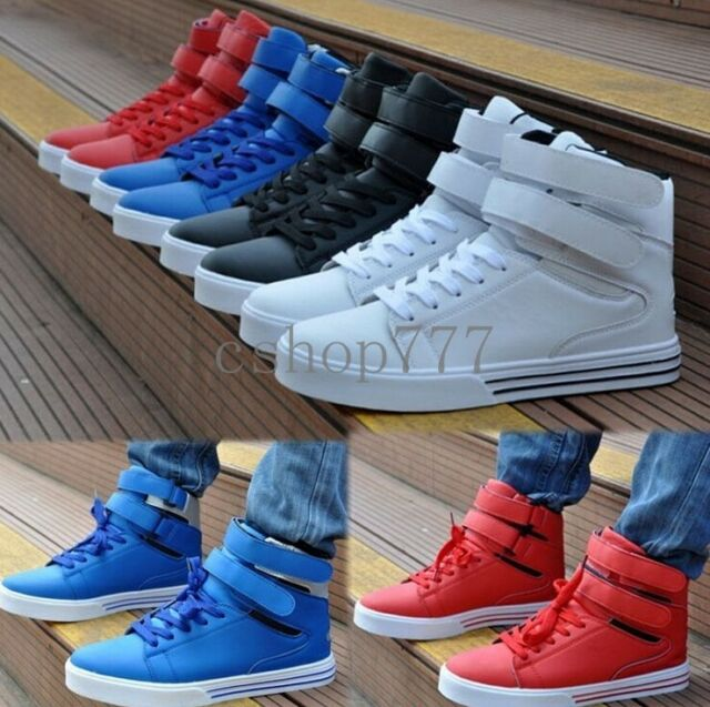 Mens High Top Sneakers Casual Skateboard Ankle Boots Athletic Running Shoes Size
