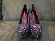Pleaser Bordello Platform Crystal Shoes 6