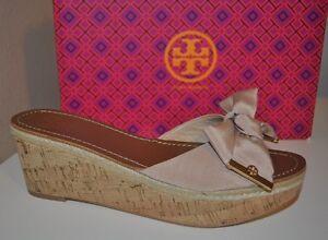 eea0ba2b50d NIB  265+ Tory Burch Penny Cork Wedge Slide Sandal Shoe Camellia ...