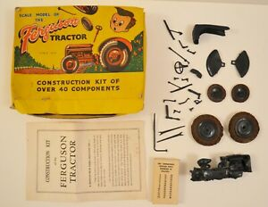 Airfix-model-kit-Rare-FERGUSON-TRACTOR-box-and-instructions-some-parts-missing