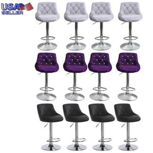 Set-of-4-Counter-Height-PU-Leather-Bar-Stools-Adjustable-Swivel-Pub-Bistro-Chair