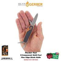 Gerber Bear Grylls Pocket Tool, Survival Series Fine Edge Blade Knife 31-001050
