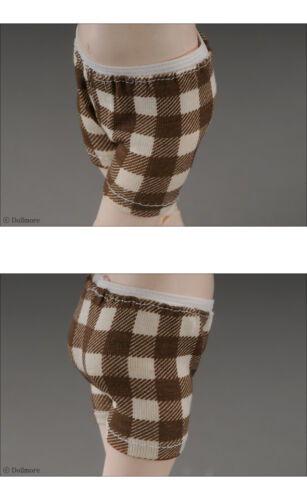 Boy trunk span panties Dollmore Check Brown 1//6 BJD YOSD USDDear Doll Size