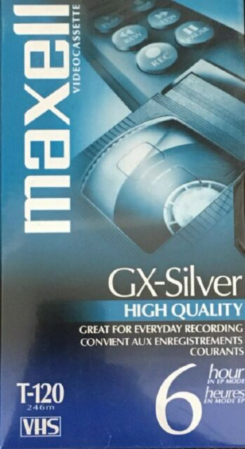 MAXELL GX-Silver T-120 High Quality 6 Hour VHS - Brand New Sealed Package