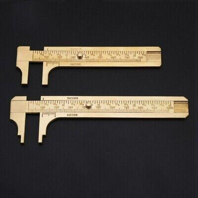 1PC Brass Sliding Gauge Vernier Caliper Measure Measurement Tool For Pocket