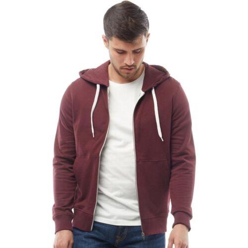 Men/'s JACK /& JONES HOLMEN Sweat Zip Through Plain Hoodie Top Hooded Sweatshirt
