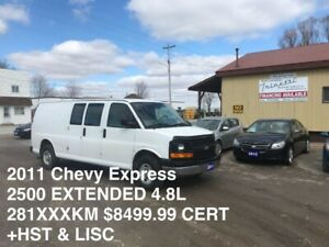 2011 Chevrolet EXPRESS 2500 EXTENDED 4.8L BACK UP CAM CRUISE !