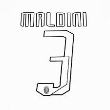 A.C. MILAN Nome e Numero UFFICIALE MALDINI 3 stagione 07/08 per maglia home