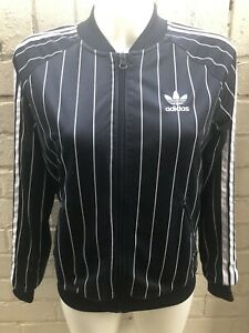 Adidas-Originals-Women-s-Tracksuit-Top-Size-12-Pinstripe