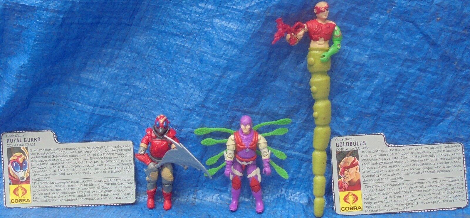 GI Joe ARAH Hasbro 1987 Cobra La Team With Weapons File Cards Royal Nemesis