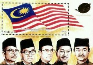 SJ-Golden-Jubilee-Celebration-Independence-Malaysia-2007-ms-MNH-gold-foil
