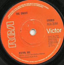THE SWEET - POPPA JOE / JEANIE - 1972 - SOLID CENTRE- ORIGINAL 70s GLAM ROCK POP