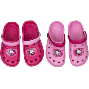 16a81f6aef0e96 Image is loading Official-Hello-Kitty-Clogs-Beach-Sandals-Crocs-Girls-