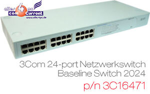 24port 10/100 Commutateur Networkswitch 3com Baseline 2024 Duplex 3c16471 Gris Conduire Un Commerce Rugissant