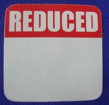 60 Self Adhesive Square Reduced 1 18 Labels Stickers Retail Store Supplies