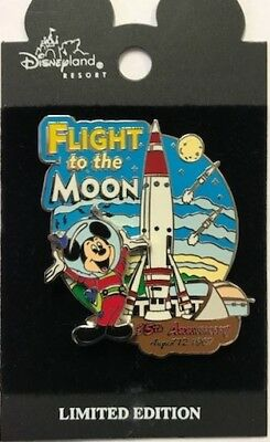 Disney Parks Disneyland Mickey Mouse Flight to Moon Rocket 35th 1967-2002 LE Pin