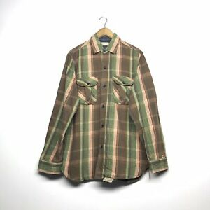 VINTAGE-SUGAR-CANE-WORK-WEAR-DOUBLE-POCKET-FLANNEL-SHIRT-SIZE-LARGE-TOYO-ENT