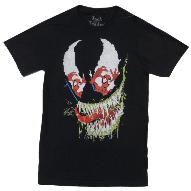 Spider-Man Venom Eyes Marvel Comics Premium Licensed Adult Shirt S-XL