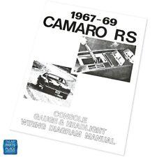 1969 Camaro Wiring Diagram Manual For Sale Online Ebay