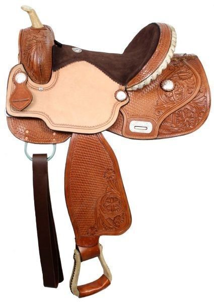 Double T Barrel Saddle with Flex Tree 15 , 16