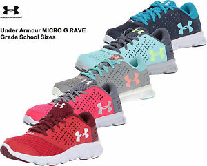 8237c0f2 Under Armour Girls Shoes MICRO G RAVE GRADE SCHOOL Sneakers 1285435 ...