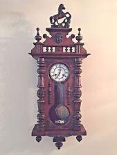 Antique FMS Friedrich Mauthe Schwenningen Clock Vienna Regulator Horse Finial