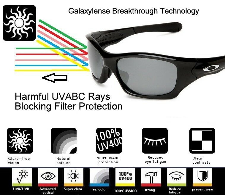 2b510aec66 Galaxy Replacement Lenses for Oakley Offshoot Sunglasses Black Polarized  for sale online