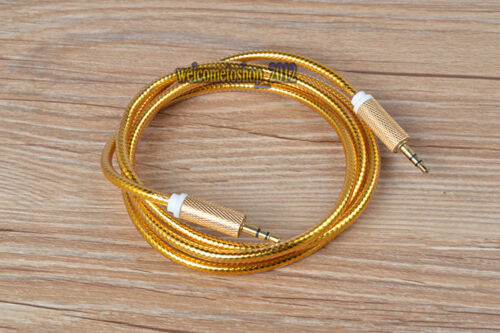 3.5 mm Male to Male 1.4 meter Long  4.5 mm Thick Audio AUX Cable cord 6 colors