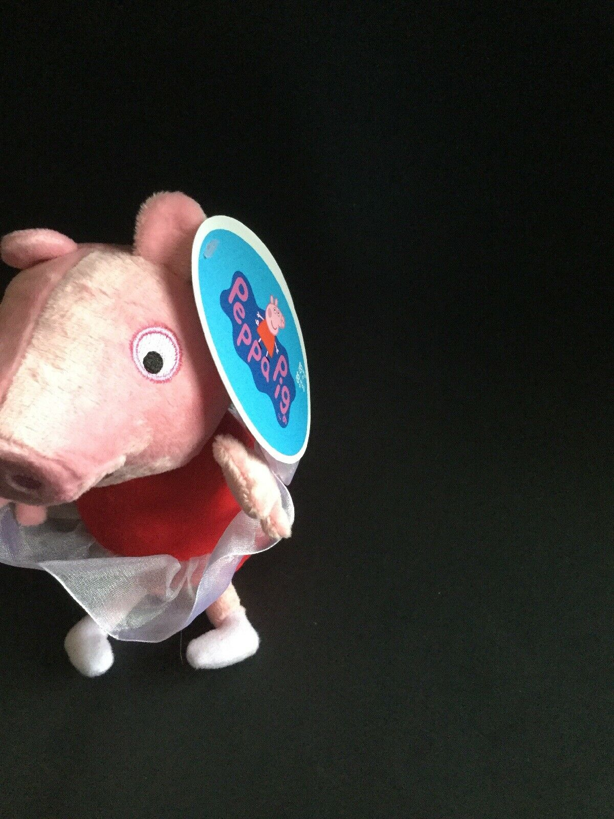 """Peppa Pig 6/"""" Plushie With Tutu Makes Giggling Sound When You Press Her Tummy"""