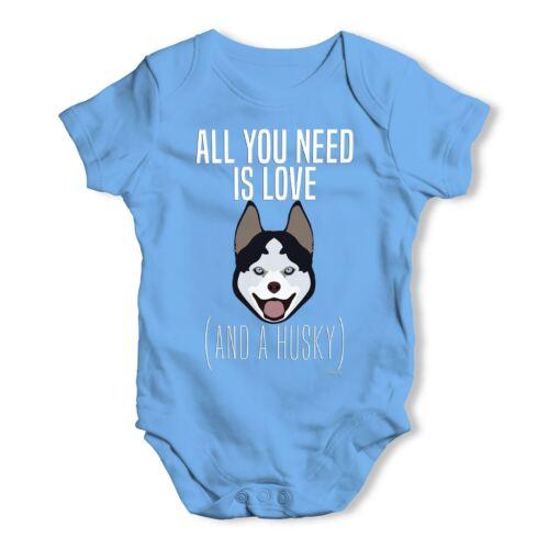 Twisted envy all you need is a husky bébé unisexe drôle bébé grandir body