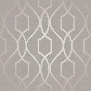 Sommet-Geometrique-Treillage-Peint-Gris-Taupe-Fine-Decor-FD41997-Metallique