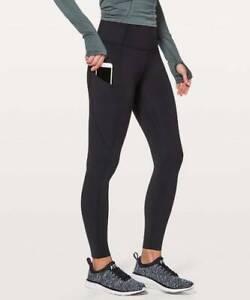 "Lululemon Women's Fast Free High Rise Tight Pant 25"" NEW Black"