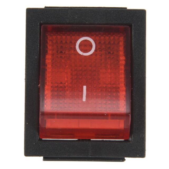 1 x basculeur/interrupteur à bascule ON/OFF Rouge et noir 4 broches 15A/250V n4h