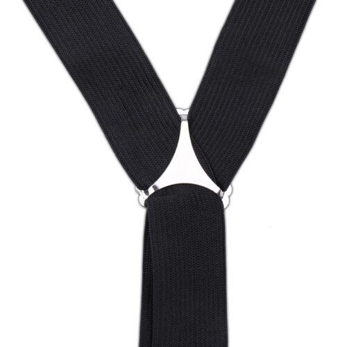 Noir Unisexe Bretelles Réglable avec Bouton Trous Élasthanne UK