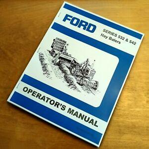 ford   hay baler operators owners book guide manual