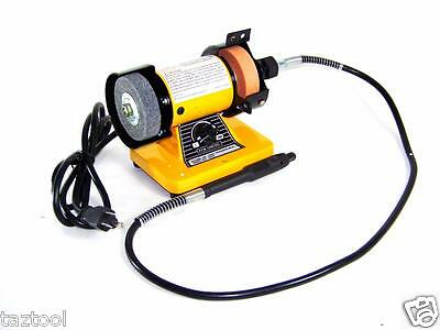"""Rotary Flexible Shaft Die Carving 3"""" Mini Bench Grinder"""