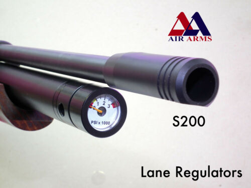 Air Arms / CZ S200, Compatable Quickfill & Pressure Gauge, by Lane Regulators
