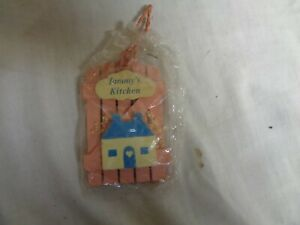 Tammy-039-s-Kitchen-Pink-Wood-amp-Blue-House-RUSS-Refrigerator-Magnets