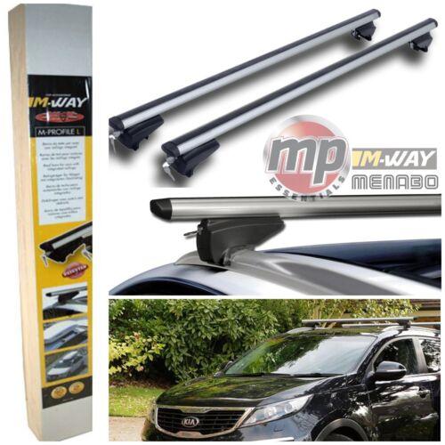 M-Way Aluminium Lockable Roof Rack Flush Rail Cross Bars for Vauxhall Mokka 12/>