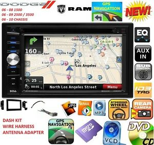 s l300 06 07 08 09 10 dodge ram gps navigation system bluetooth cd dvd Wiring Harness Diagram at bayanpartner.co