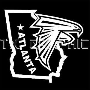 Atlanta Falcons Sticker The State Of Georgia Vinyl Decal